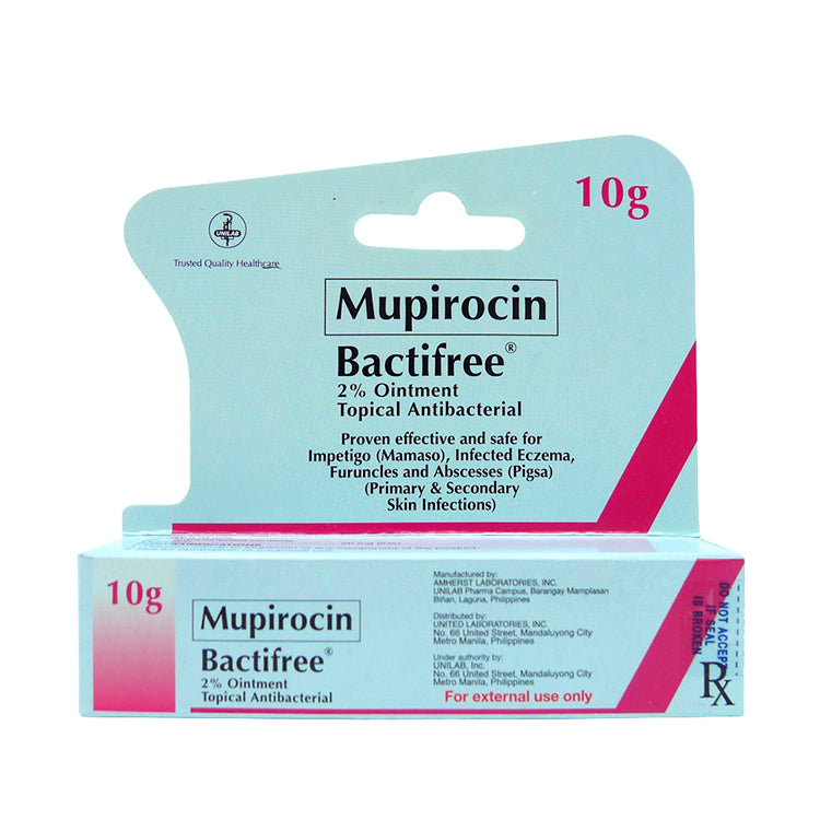 Rx: Bactifree 20 mg 10 g Ointment