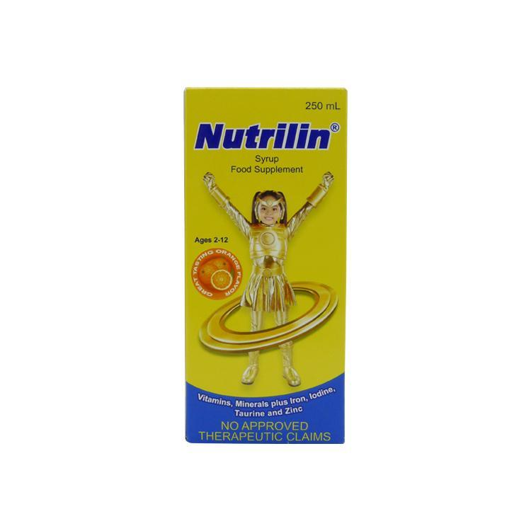 Nutrilin For Kids 2 - 12 years old Orange Flavor 250 ml Syrup
