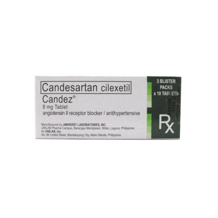 Rx: Candez 8 mg Tablet