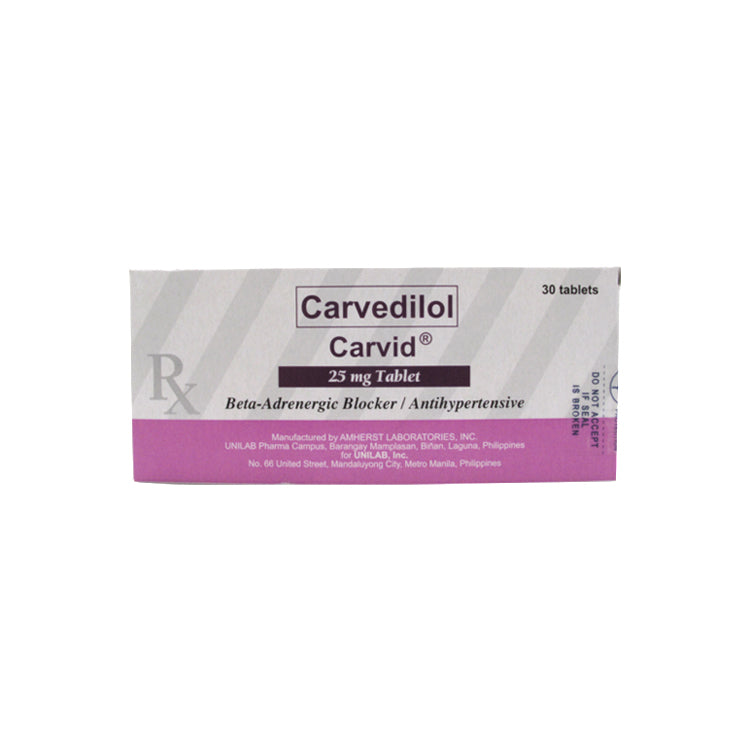 Rx: Carvid 25 mg Tablet