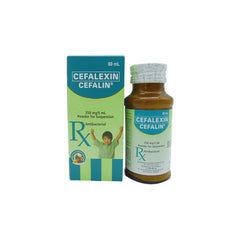 Rx: Cefalin 250 mg / 5 ml 60 ml Oral Suspension