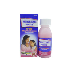 Biogesic For Kids 7 - 12 years old Strawberry Flavor 250 mg / 5 ml 60 ml Oral Suspension