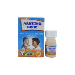 Biogesic For Kids 0 - 2 years old Orange Flavor 100 mg / ml 15 ml Oral Drops