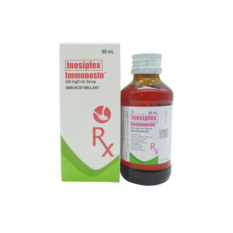 Rx: Immunosin 250 mg / 5 ml 60 ml Syrup