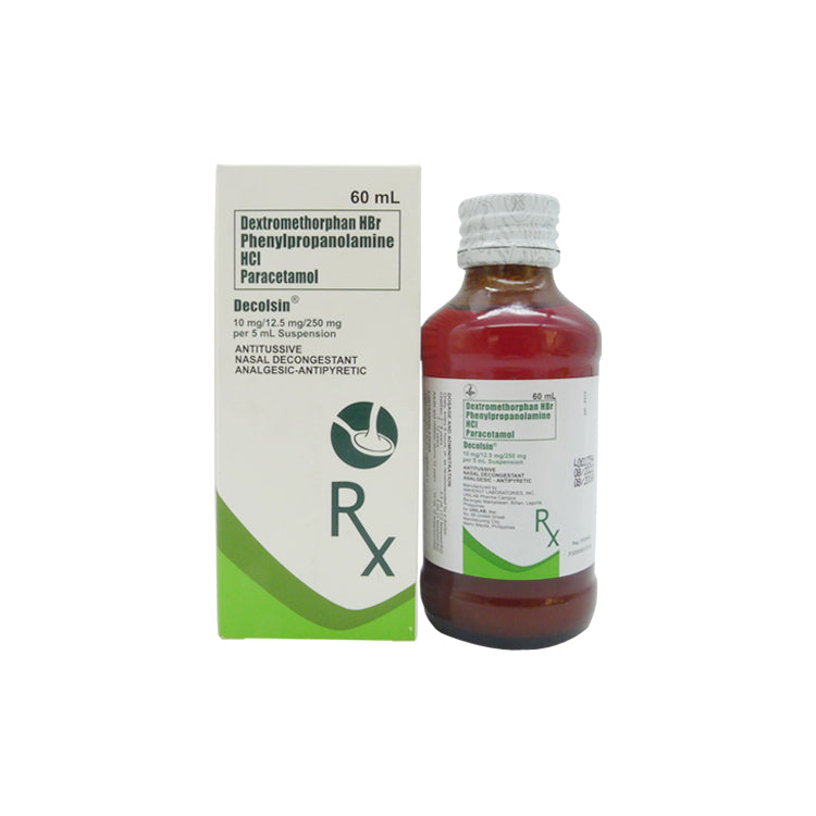 Rx: Decolsin 60 ml Oral Suspension
