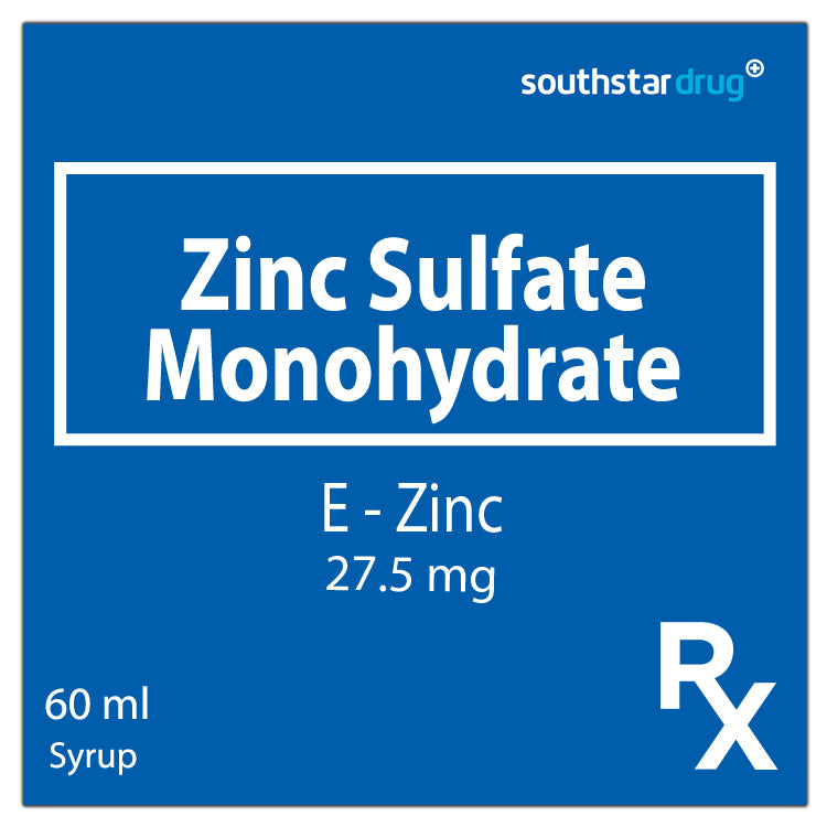 Rx: E Zinc 100 mg / ml 60 ml Syrup