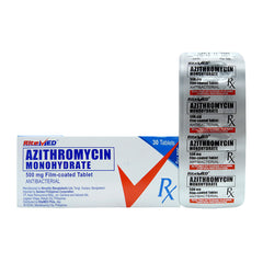Rx: RiteMed Azithromycin 500 mg Tablet