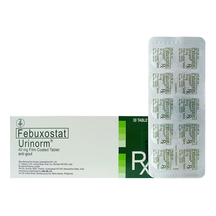 Rx: Urinorm 40 mg Tablet