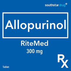 Rx: RiteMed Allopurinol 300 mg Tablet