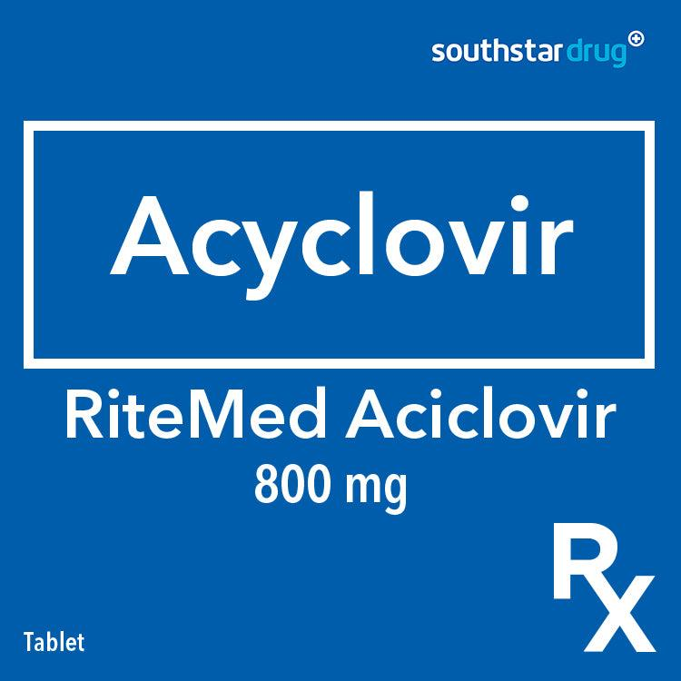 Rx: RiteMed Aciclovir 800 mg Tablet