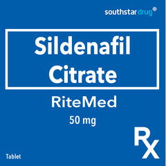 Rx: RiteMed Sildenafil 50 mg Tablet