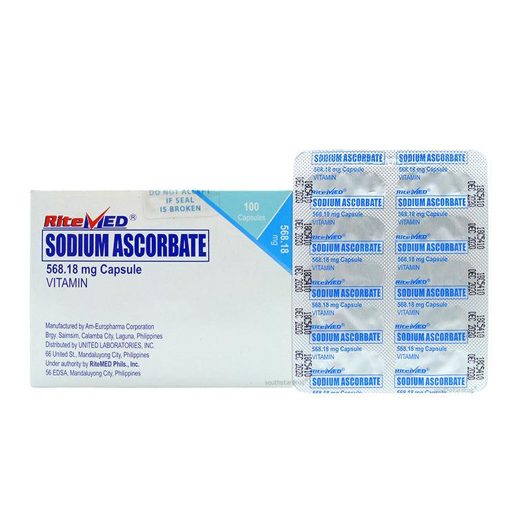 RiteMed Sodium Ascorbate 568.18 mg Capsule - 20s