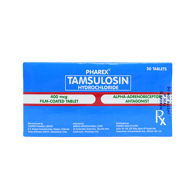 Rx: Tamsulosin Pharex 400 mcg Tablet