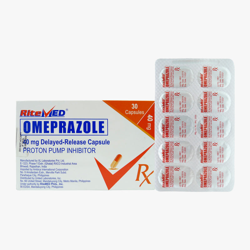 Rx: RiteMed Omeprazole 40 mg Capsule