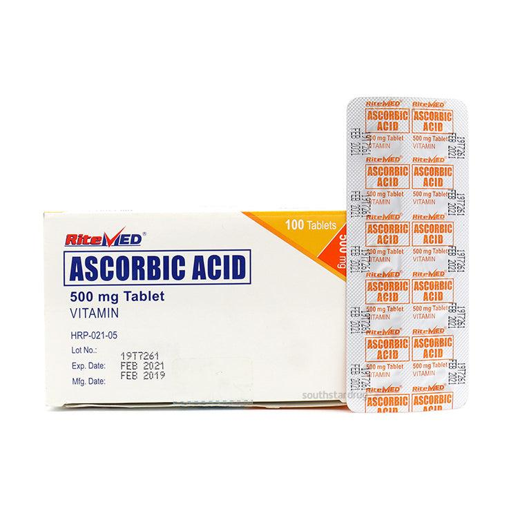 RiteMed Ascorbic Acid 500 mg Tablet - 20s