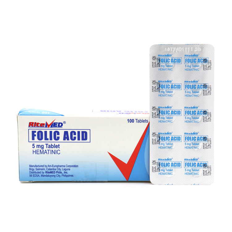 RiteMed Folic Acid 5 mg Tablet - 20s