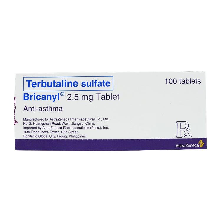 Rx: Bricanyl 2.5 mg Tablet