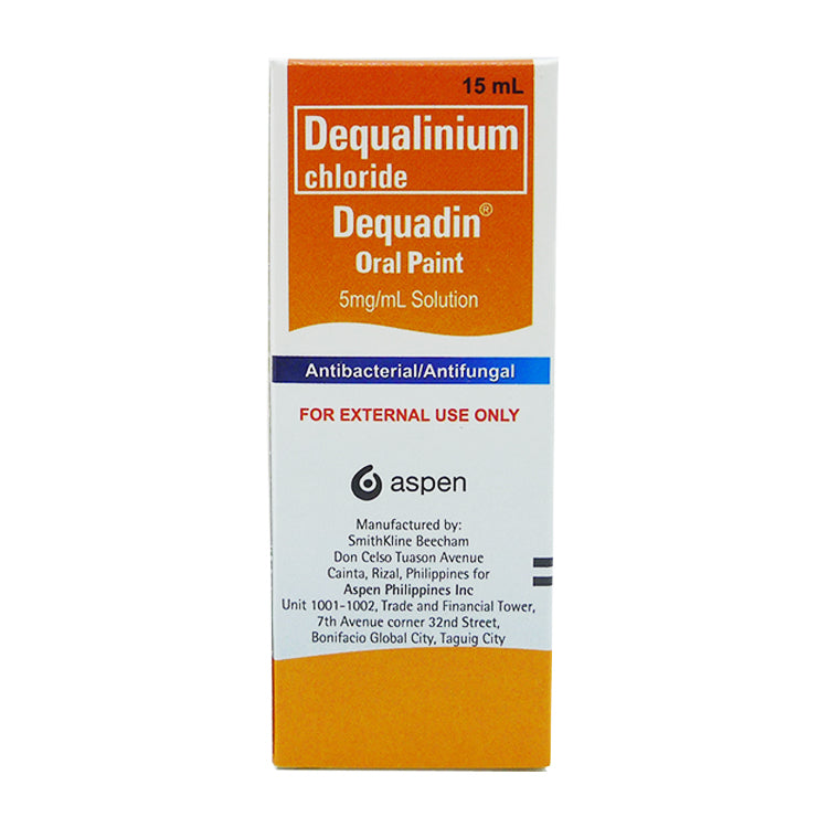 Dequadin Oral Paint 5 mg / ml 15 ml Solution