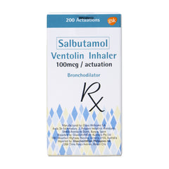 Rx: Ventolin Inhaler 100 mcg / Actuation 200D