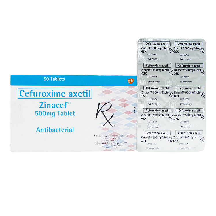 Rx: Zinacef 500 mg Tablet