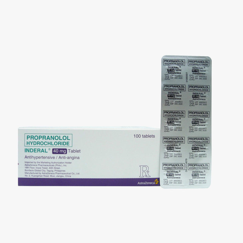 Rx: Inderal 40 mg Tablet