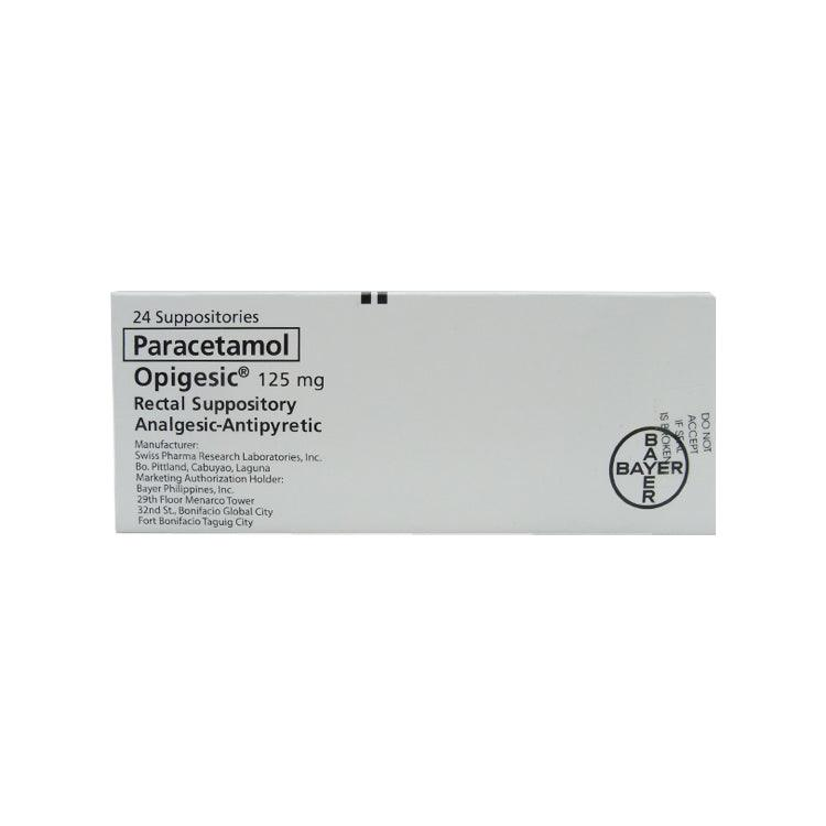 Opigesic 125 mg Suppositories - 6s
