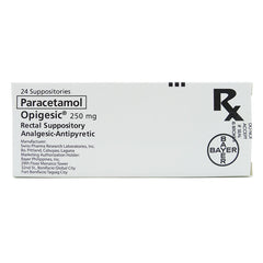 Rx: Opigesic 250 mg Suppository
