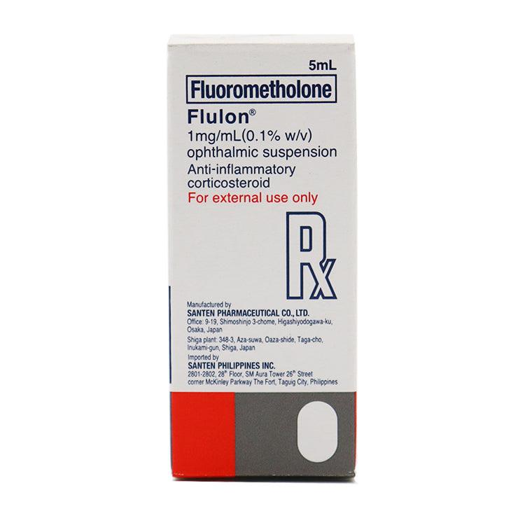 Rx: Flulon 1 mg / ml (0.1% w / v) 5 ml Suspension