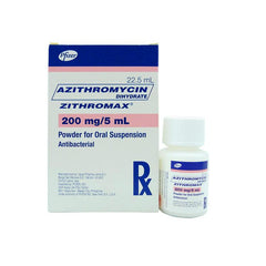 Rx: Zithromax 200 mg / 5 ml 22.5 ml Drops
