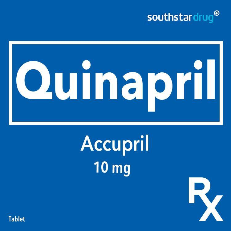 Rx: Accupril 10 mg Tablet