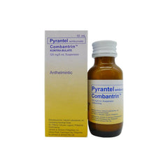 Rx: Combantrin 125 mg / 5 ml 10 ml Oral Suspension