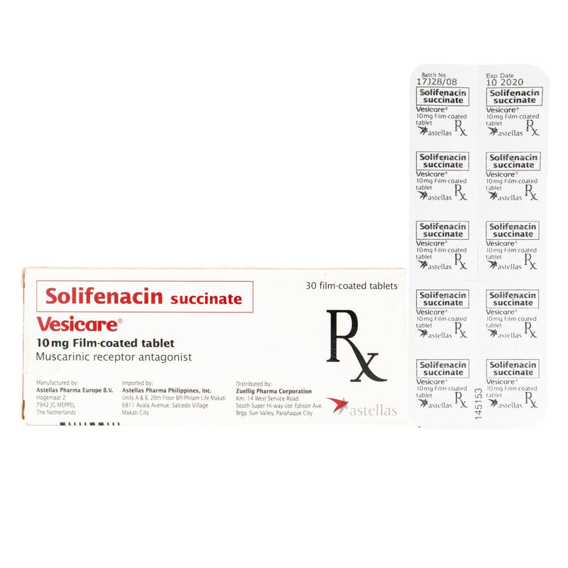 Rx: Vesicare 10 mg Tablet