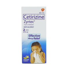 Zyrtec 1 mg / ml Oral Solution 60 ml