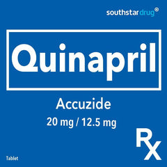 Rx: Accuzide 20 mg / 12.5 mg Tablet