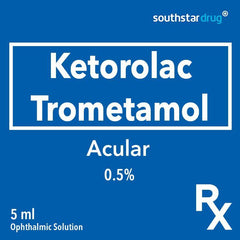 Rx: Acular 0.5% 5 ml Ophthalmic Solution