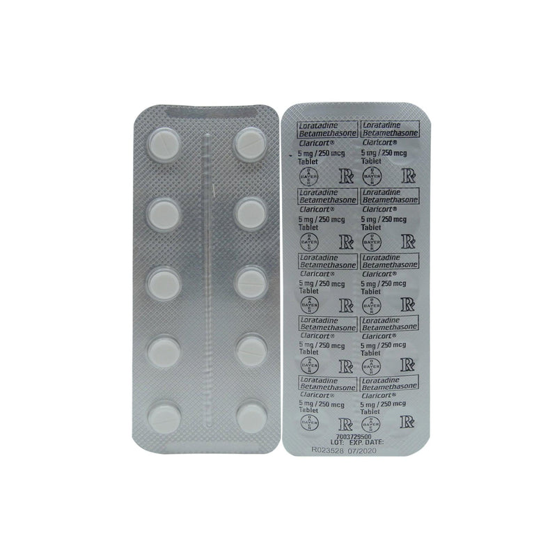 Rx: Claricort 5 mg / 250 mcg Tablet