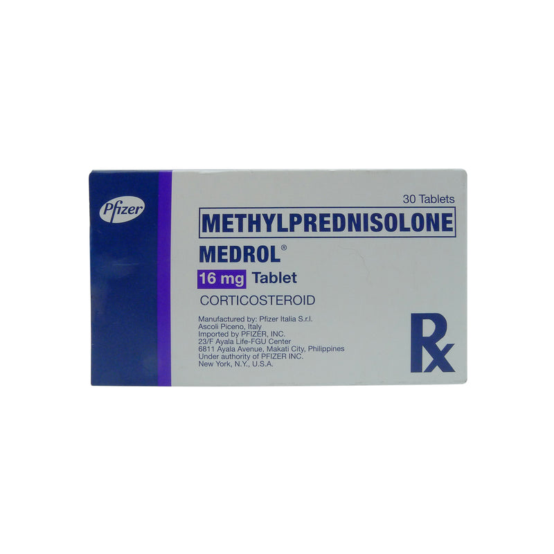 Rx: Medrol 16 mg Tablet