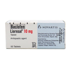 Rx: Lioresal 10 mg Tablet