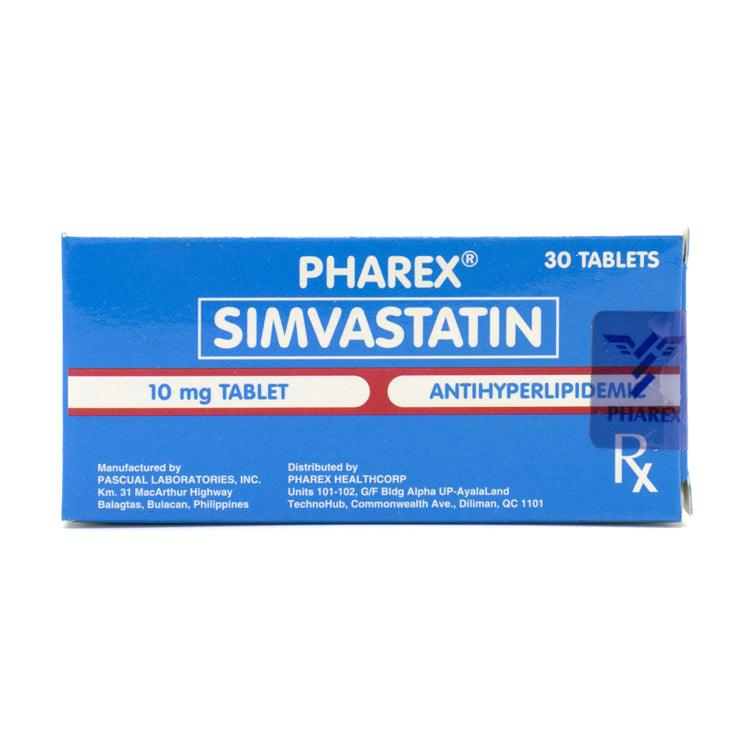 Rx: Pharex Simvastatin 10 mg Tablet