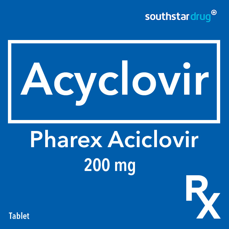 Rx: Pharex Aciclovir 200 mg Tablet