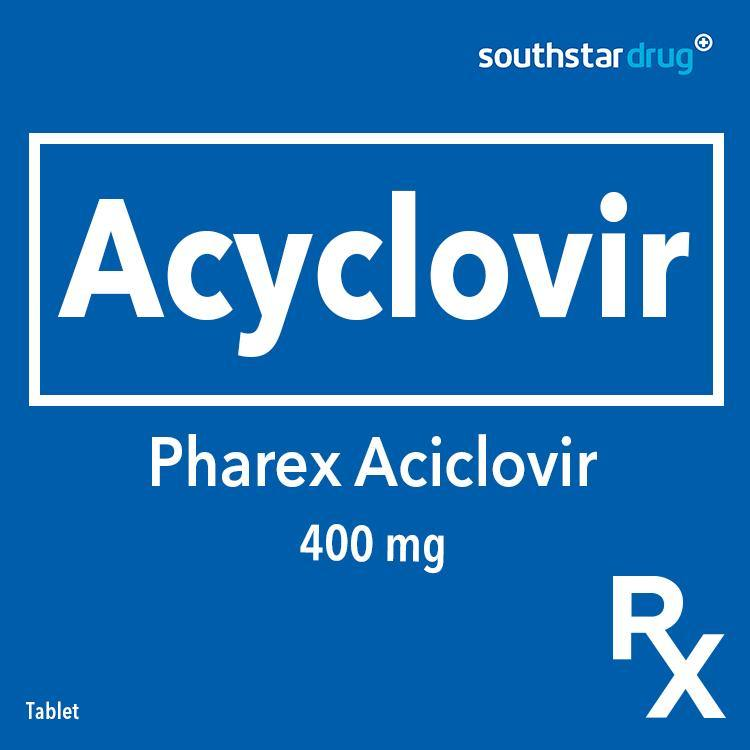 Rx: Pharex Aciclovir 400 mg Tablet