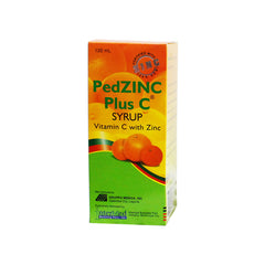 PedZINC Plus C 100 mg 120 ml Syrup