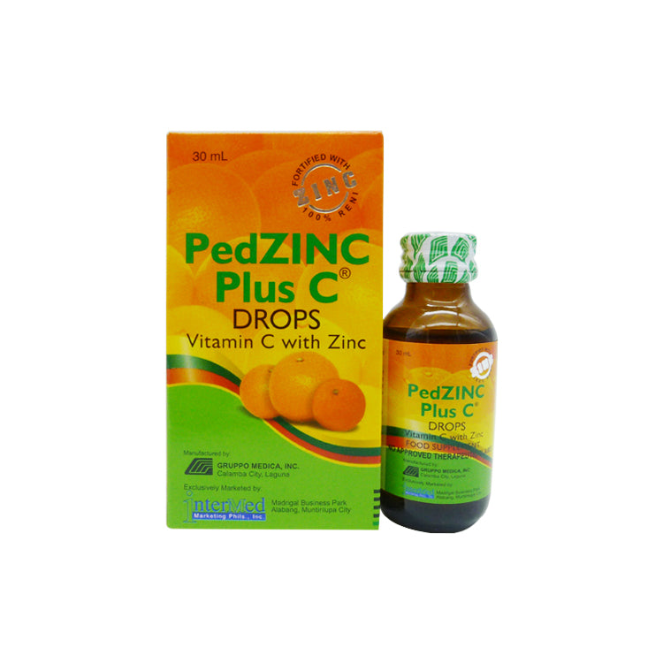 PedZINC Plus C 100 mg 30 ml Oral Drops