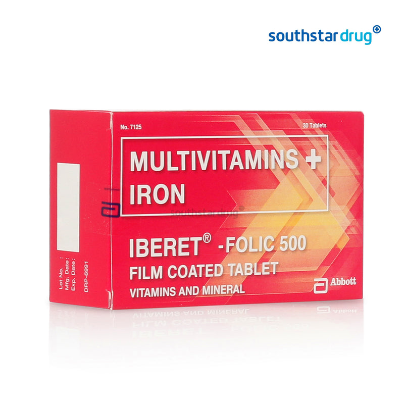 Iberet - Folic 500 mg Tablet - 30s