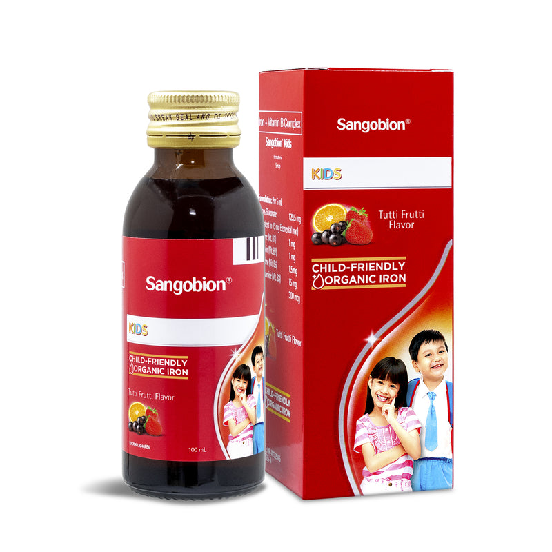 Sangobion For Kids Tutti Frutti Flavor 100 ml Syrup