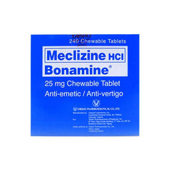 Bonamine 25 mg Chewable Tablet - 5s