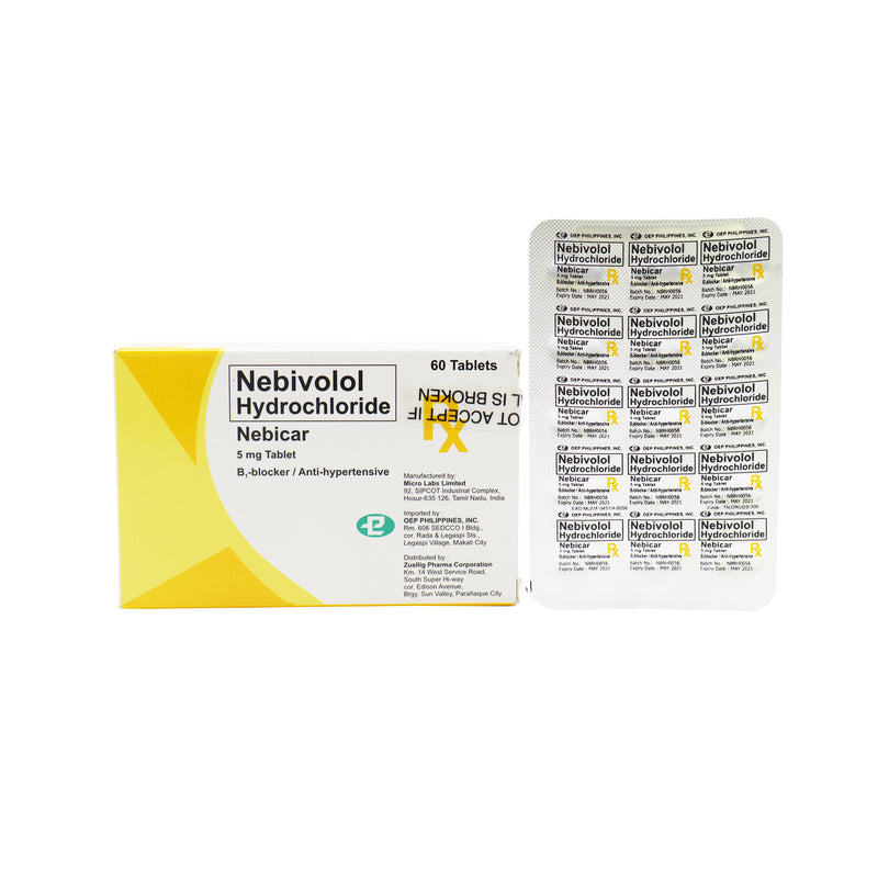 Rx: Nebicar 5 mg Tablet
