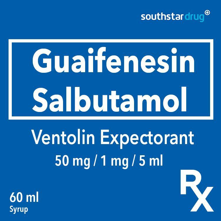Rx:  Ventolin Expectorant Sf 50 mg / 1 mg / 5 ml 60 ml  Syrup