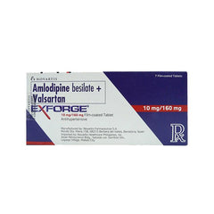 Rx: Exforge 10 mg / 160 mg Tablet