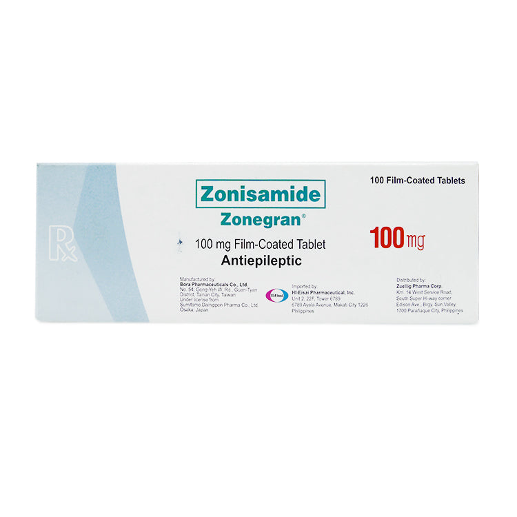 Rx: Zonegran 100 mg Tablet